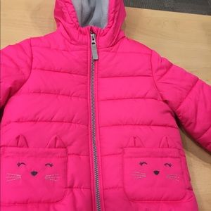 TODDLERS PUFFER JACKET SZ4T CARTER'S brand kitty